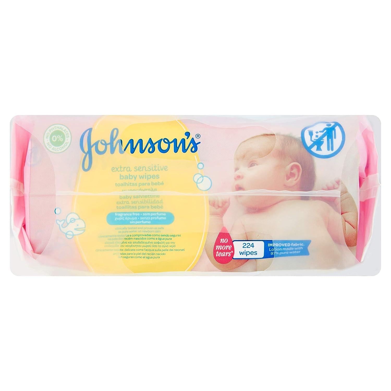 Johnsons Baby - Toallitas para Bebe Extra Sensibilidad - 3 Paquetes de 224 toallitas - [Total: 672 toallitas]: Amazon.es: Salud y cuidado personal