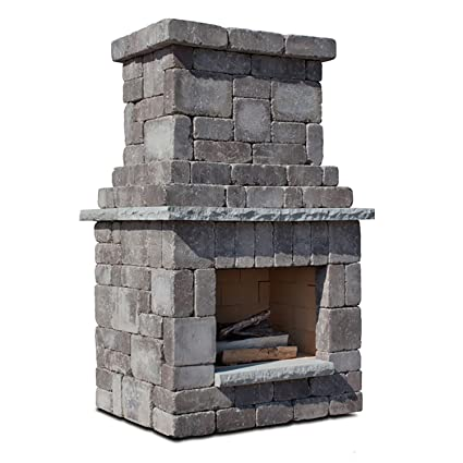 Necessories Colonial Outdoor Fireplace In Bluestone