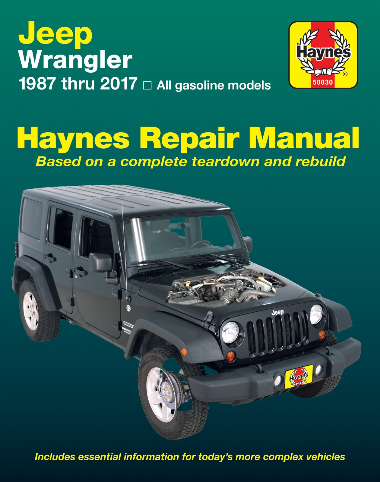 Haynes Repair Manual 50030 for Jeep Wrangler 1987-2017: 0038345017773:  Amazon.com: Books