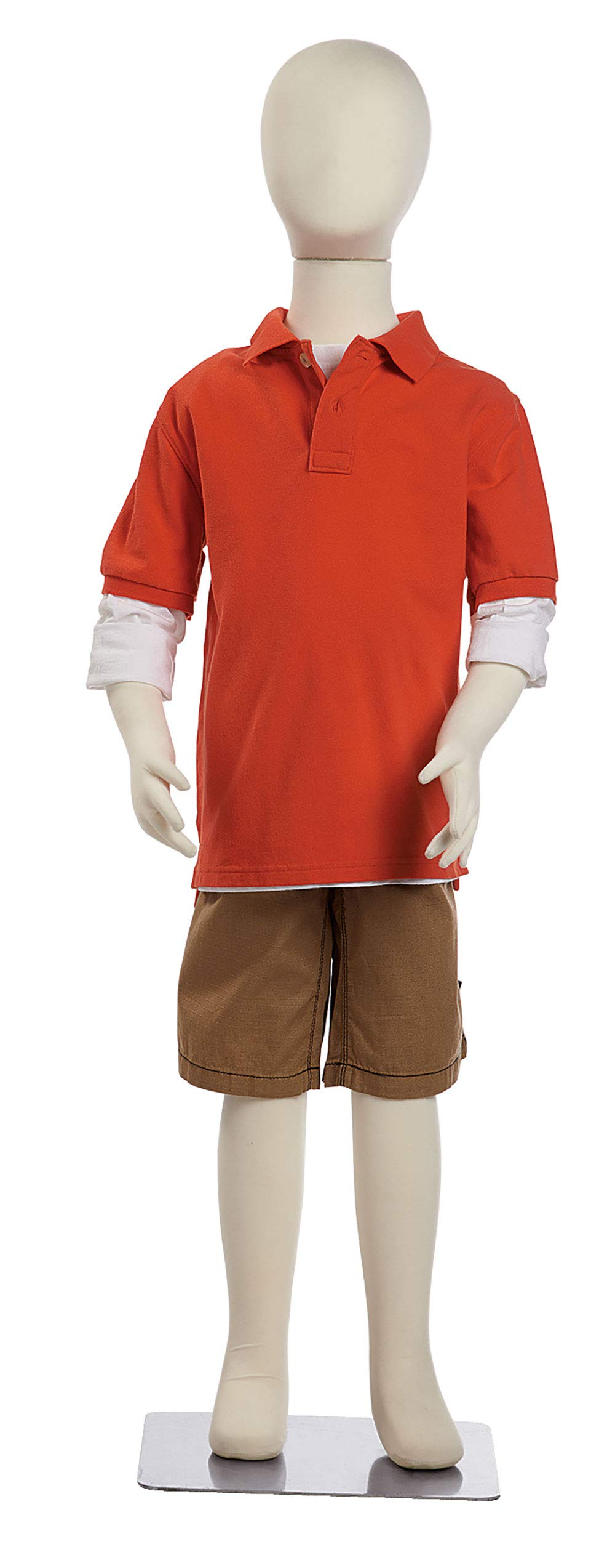 Large Youth Flexible Mannequin (7 Year) - 46'' with Head 40'' Without Head
