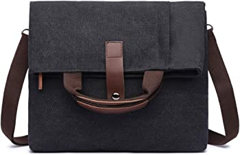HUSTON LOWELL Retro Canvas Messenger Shoulder Laptop Bag