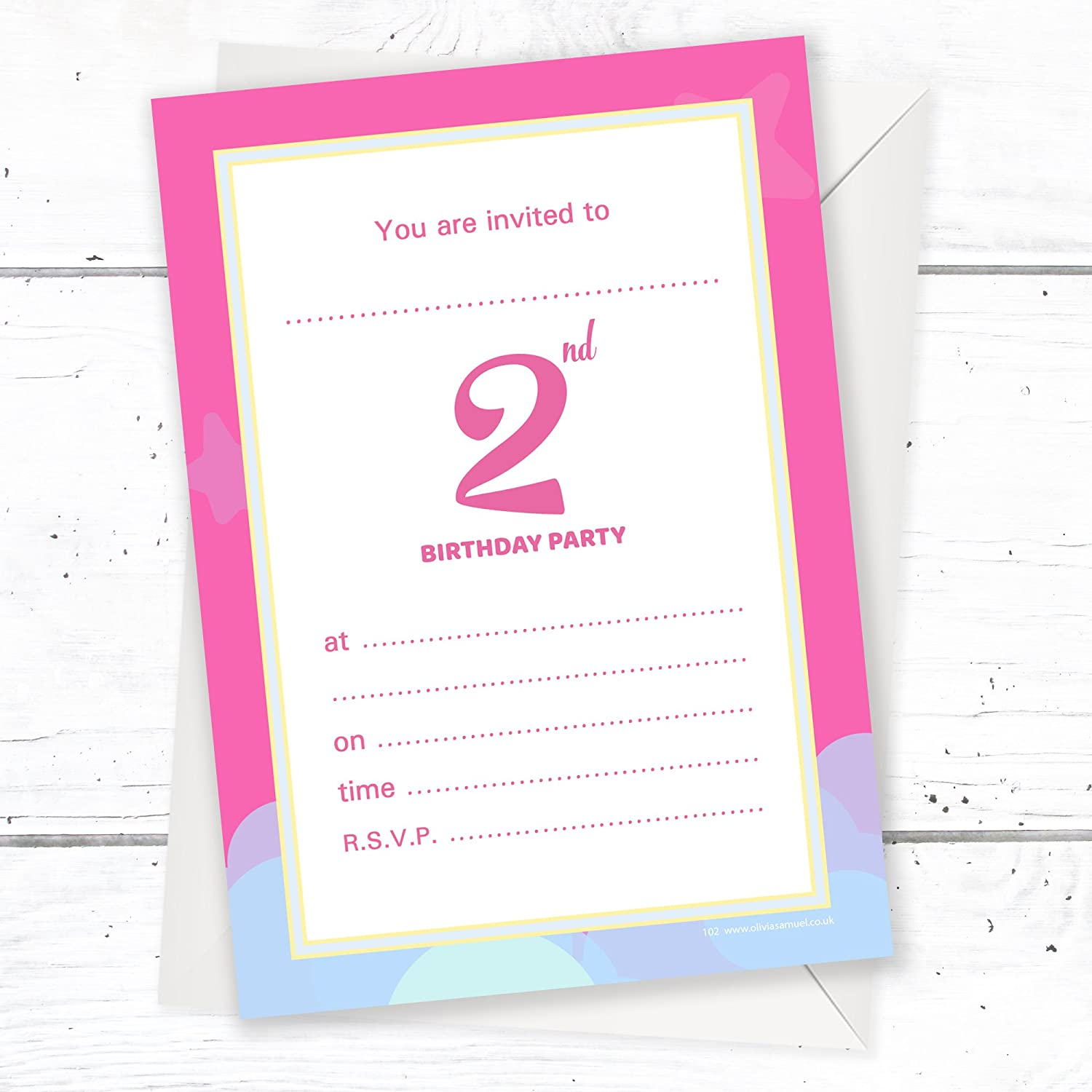 1st Birthday Party Invitations Unicorn Rainbow Pink Invites