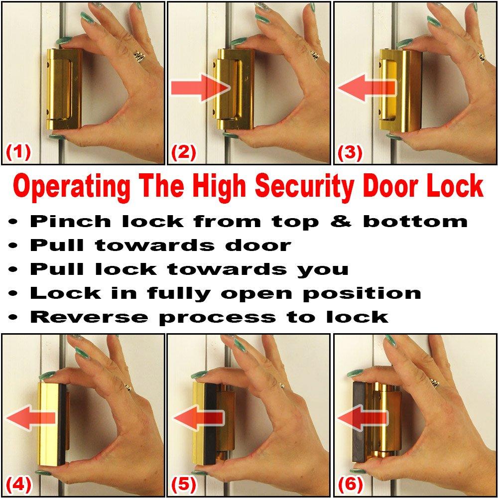 Defender Security U 10827 Door Reinforcement Lock - Add ...
