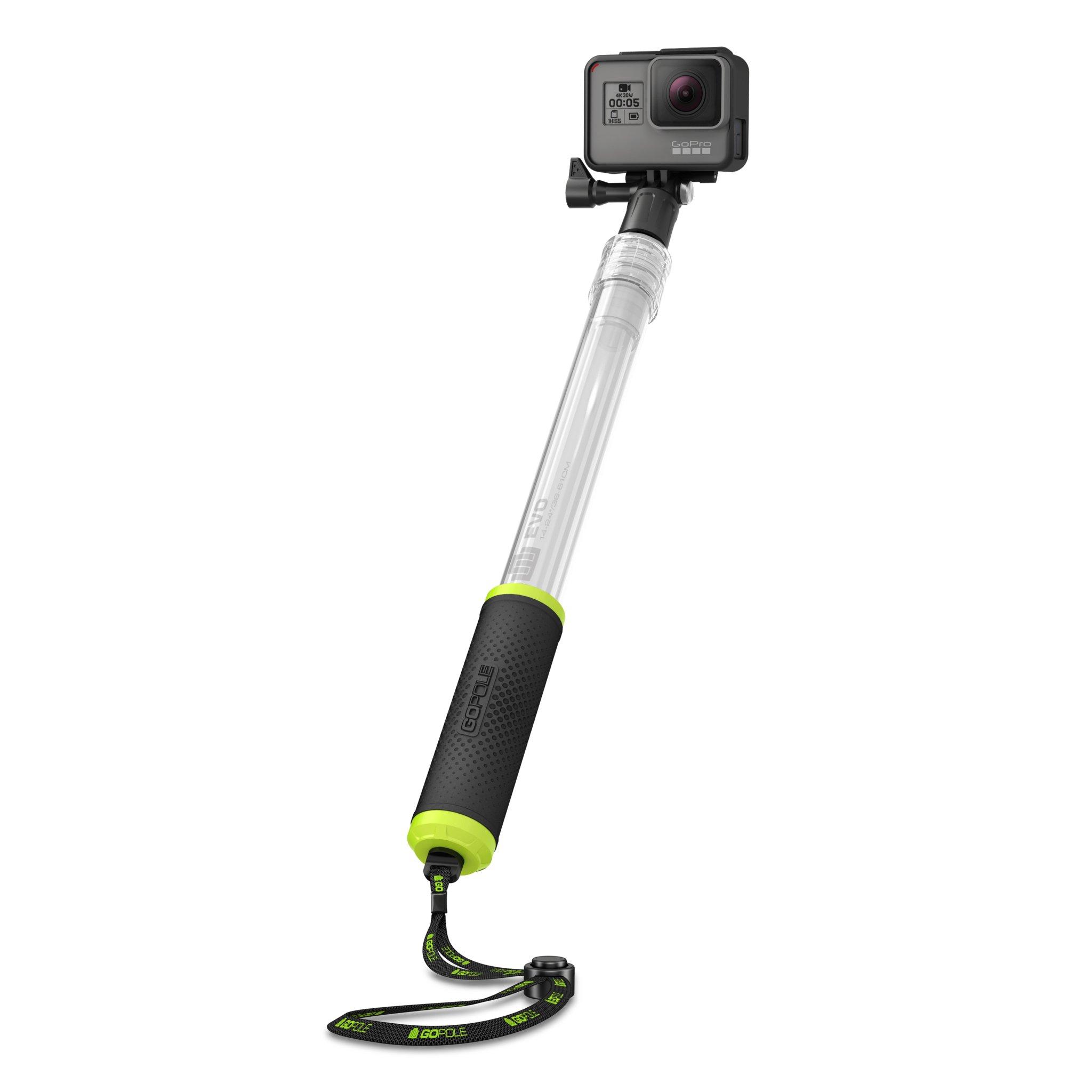 GoPole GPE-10 EVO 14-24'' Floating Extension Pole for GoPro Cameras (Transparent)