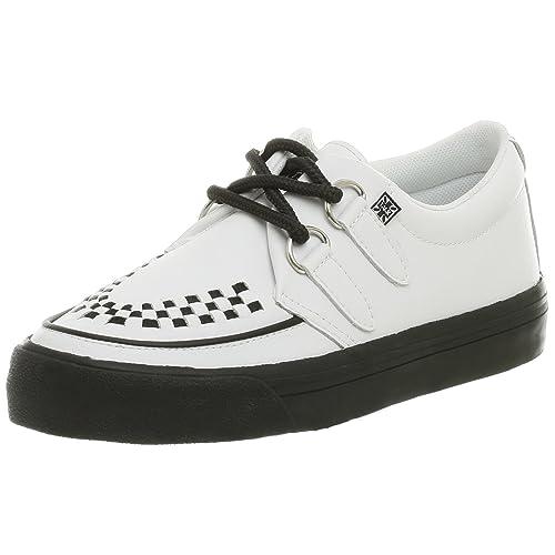 TUK - Zapatillas de deporte de cuero unisex, Blanco, 37: Amazon.es: Zapatos y complementos