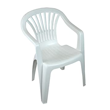 b5b48978f368 CrazyGadget® Plastic Garden Low Back Chair Stackable Patio Outdoor Party  Seat Chairs Picnic White