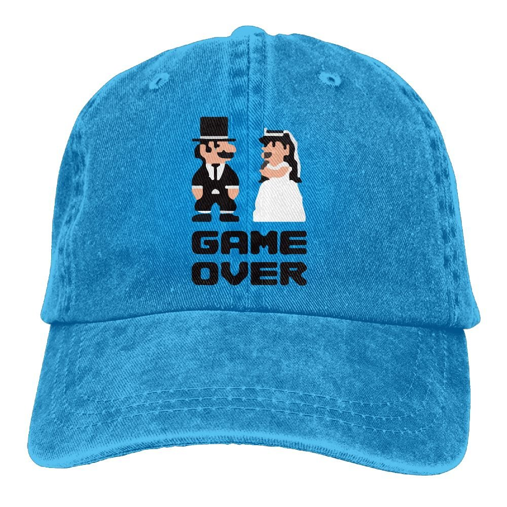 Wedding Game Over Trend Printing Cowboy Hat Fashion Baseball Cap For Men and Women Black