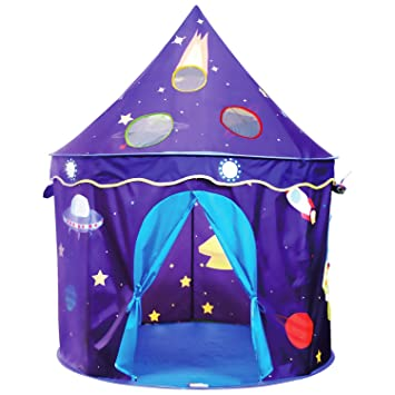Amazon.com: Eggsnow Kids Play Tent Castle Play Tent for Boys and ...