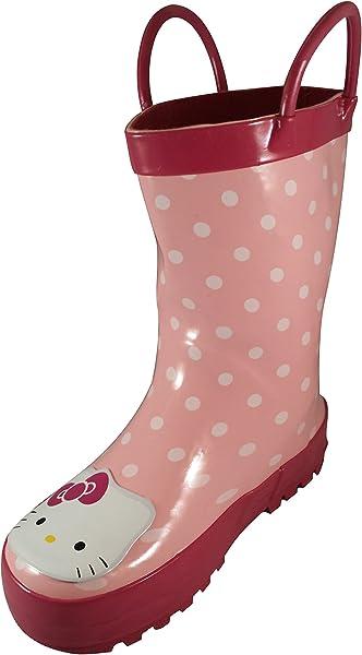 b05e4f6fa Amazon.com | Hello Kitty Polka Dot Pink Rain Boot (Toddler/Little ...