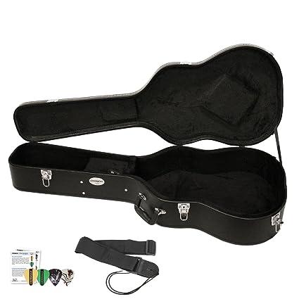 fff411eaf3 Amazon.com: Acoustic Guitar Hard Case (CC-AHC) with Guitar Strap & Planet  Waves/GoDpsMusic Pick Sampler: Musical Instruments