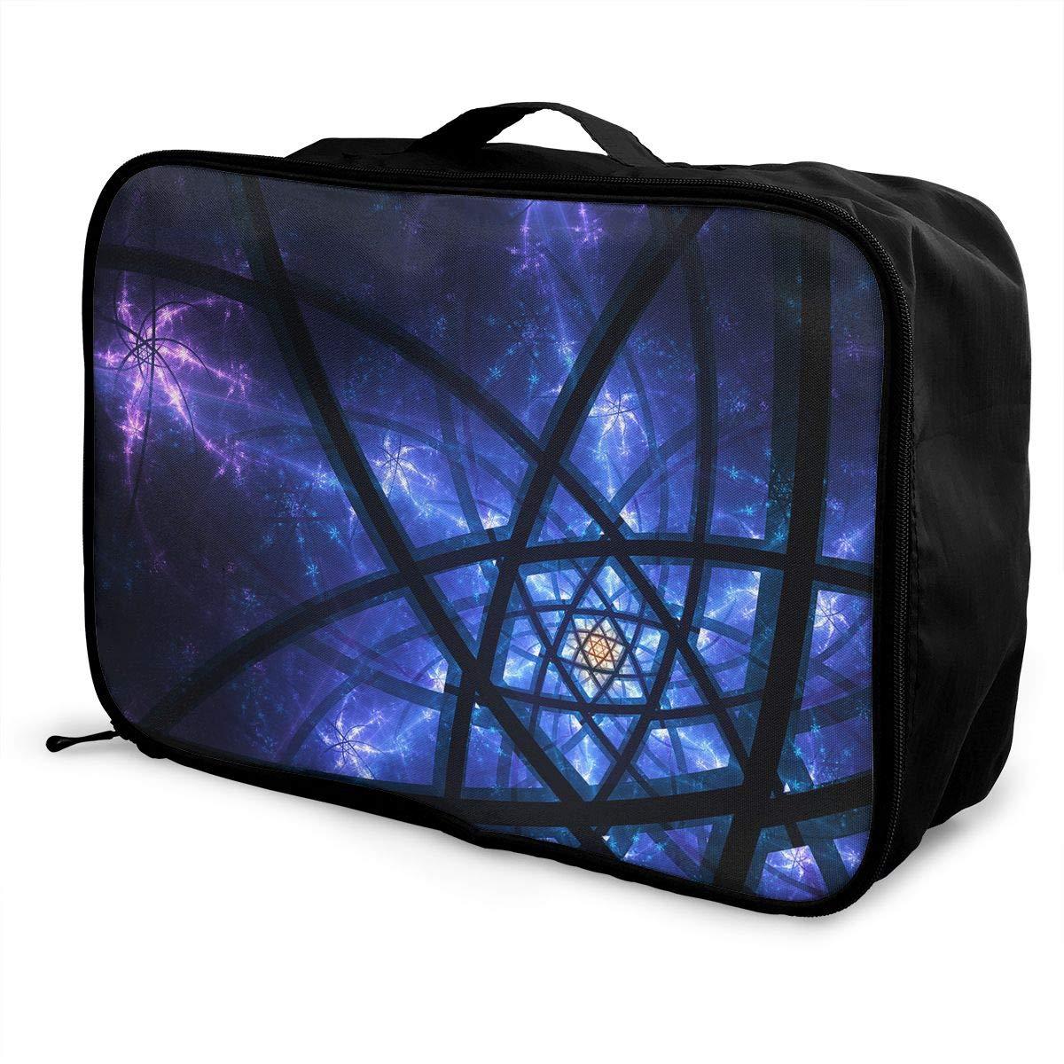 Travel Luggage Duffle Bag Lightweight Portable Handbag Fantasy Pattern Large Capacity Waterproof Foldable Storage Tote