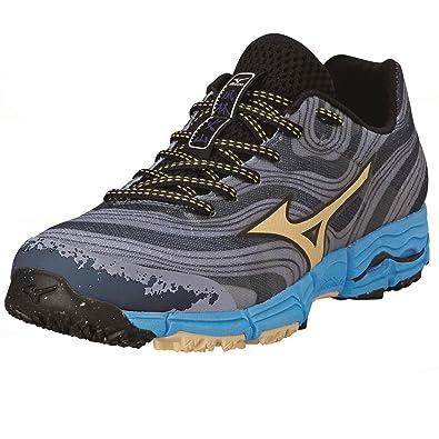 Mizuno AW14 Womens Wave Kazan Trail Running Shoes - US 7.5 - Grey/Blue