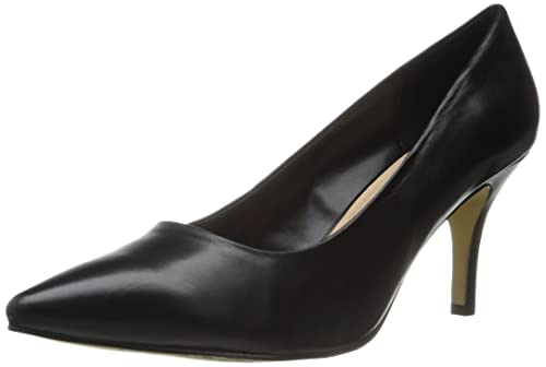 Bella Vita Women's Nara Dress Pump, Black Leather, 11 M US
