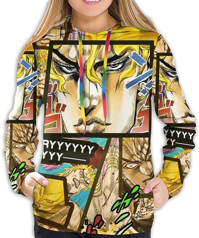 ZEGAILIAN Damska Muster Druck 3D Anime Hoodies JoJo's Bizarre Dio Brando Sweatshirts: Odzież