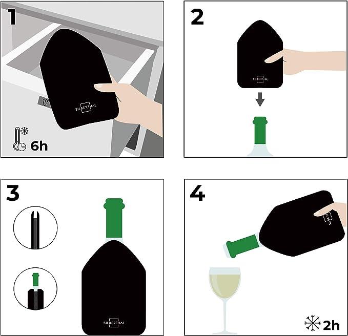 Compra SILBERTHAL Enfriador botellas vino Ajustable   Funda ...