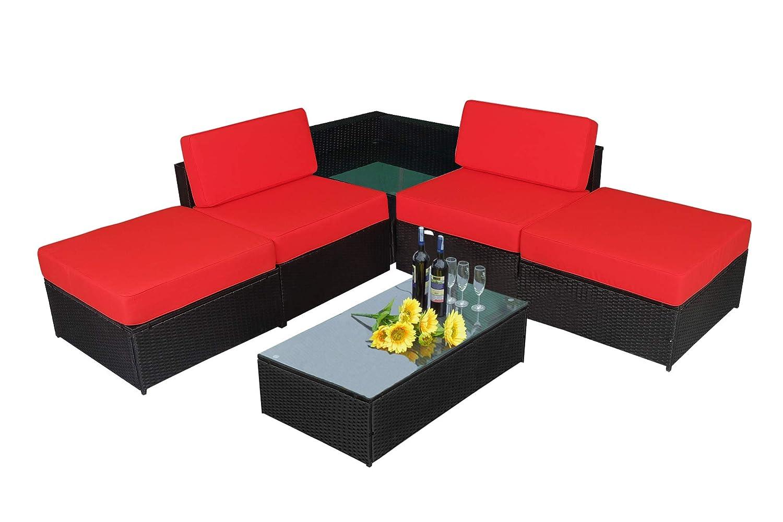 Amazon Com Mcombo Indoor Outdoor Sectional Sofa Patio Wicker