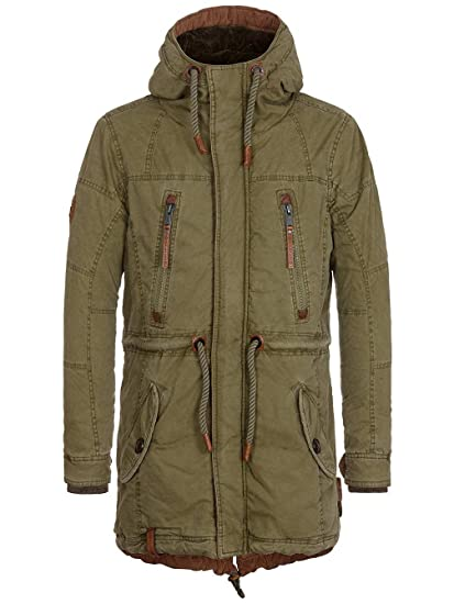 Amazon.com   Naketano Men s Jacket Rote Rakete II Desert Green, XL ... cb236e27cb