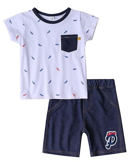 9c3d25ee398 Bebés niño algodón conjuntos de ropa verano recién nacido bebé niño jpg  425x531 Bebé chico ropa