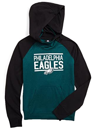 Philadelphia Eagles Green Black Youth quot Format quot  Funnel Performance  Hoodie ... bd8d36e9c