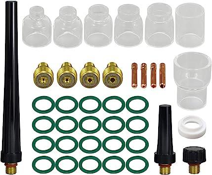 """20-pk Assorted TIG Collet Body Gas Lens 45V42-45V45 040/""""-1//8/"""" for WP-9//20//25"""