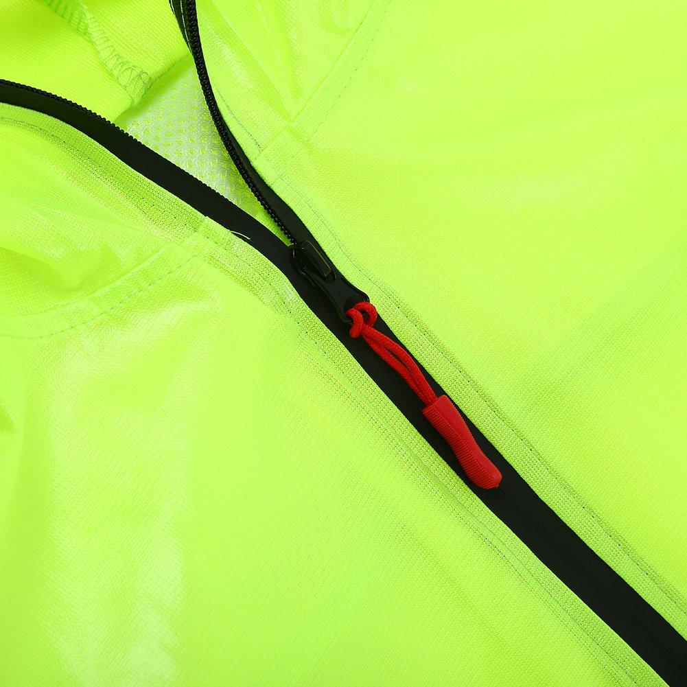 Aramox Cycling Raincoat Unisex Waterproof Hooded Rain Suit Jacket Coat for Outdoor Bicycle,Mountain Bike,Motorcycle Camping