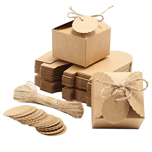SurePromise - 50 cajas de papel kraftpaper para regalo de ...
