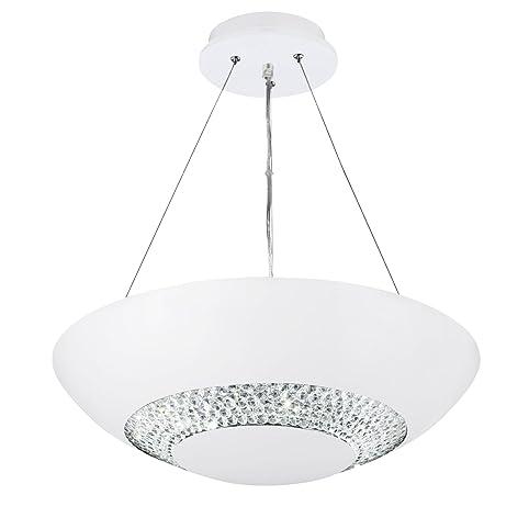 Searchlight halo ceiling light pendant matt white led 3448 8wh searchlight halo ceiling light pendant matt white led 3448 8wh aloadofball Image collections