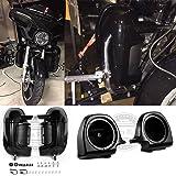 """Same Day Shipment! Vivid/Glossy Black FLTR Lower Fairings with Speaker Pods 6.5"""" Vented Leg Warmer Kits For Harley Davidson Road King Street Glide 1983-2016"""
