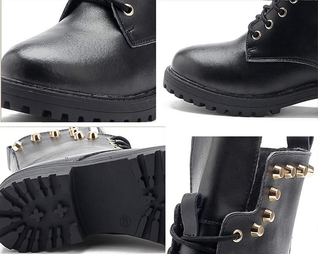 Qiusa Herbst Und Winter Leder Mode Martin Martin Martin Stiefel Warme Schuhe (Farbe   4 Größe   38EU) 738fc4