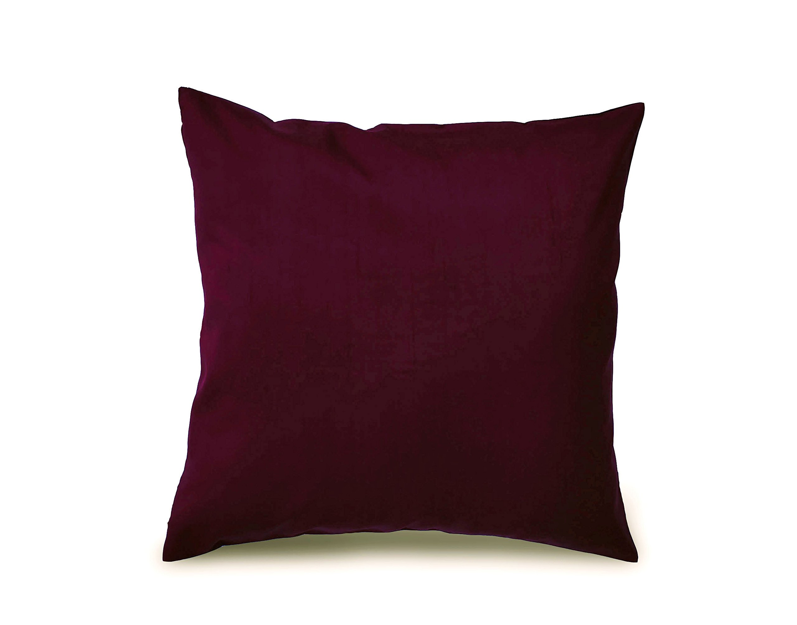 Throw Pillow Set In Maroon 18x18 Inches Set of 2 100% Pure Silk Dupioni 18 colors available