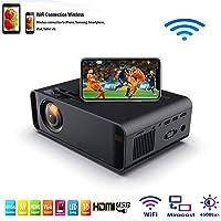 SOTEFE® Mini LED Proyector Portable 4500 Lumens - WiFi Proyector Portátil Full HD 1080P Video Multimedia Para iPhone/Samsung/Sony/Hauwei Smartphone Compatible con HDMI/USB/Tarjeta SD/VGA/AV/TV Box/PS4