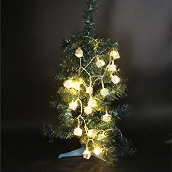 denknova Guirlande Lumineuse LED Diode dans le cube LED argentées