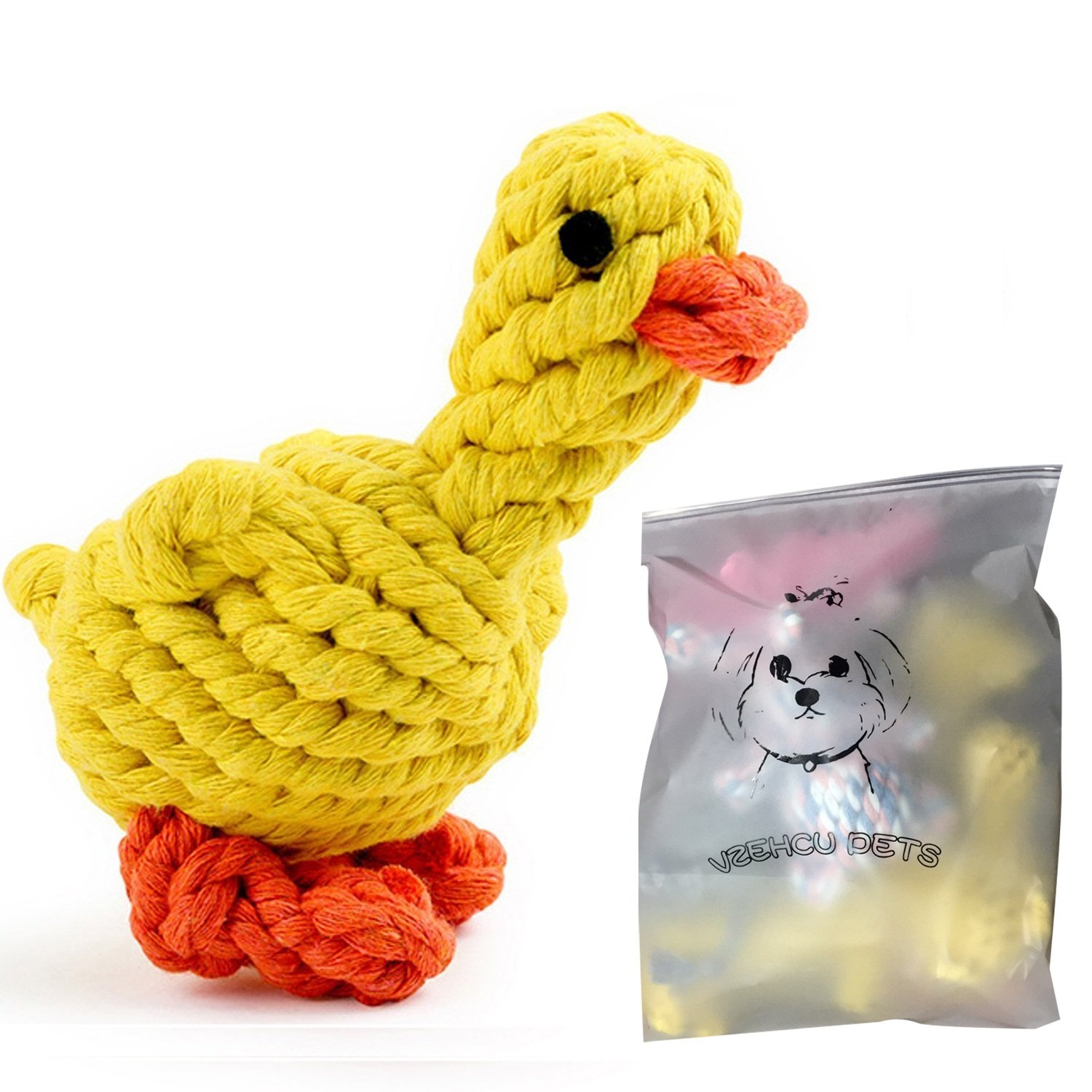 Dog Chew Toys Set Animal Design Cotton Chewand Play Toys for Teeth Cleaning , Durable Rope Training Toys for Small/Medium Breeds