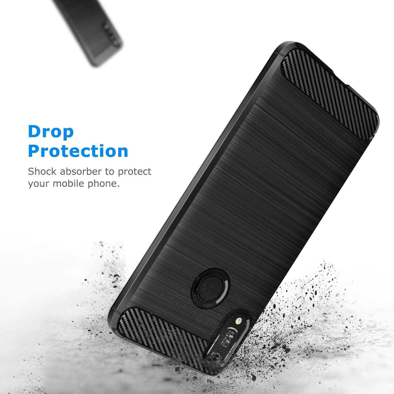 Coque-Etui-Housse-Silicone-brossee-Fibre-de-carbone-Noir-Protection-Huawei miniature 63