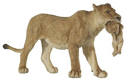 amazon com papo wild animal kingdom figure lioness with cub toys
