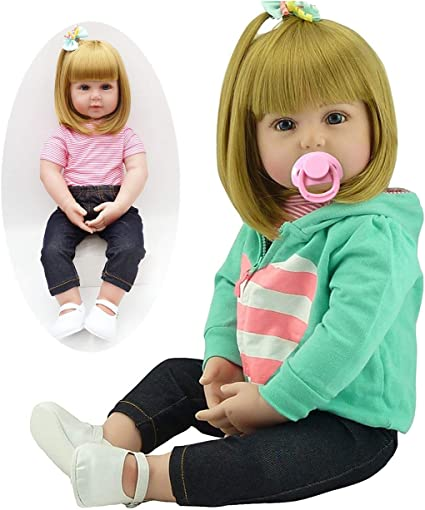 NPK Realistic Reborn Toddler Girl Doll (Blonde Hair), 24