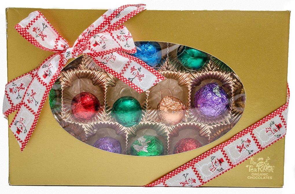 16 Premium Holiday Truffles in Beautiful Gold Box. Made Using Over 99% Organic Ingredients. Non-GMO, Gluten Free,