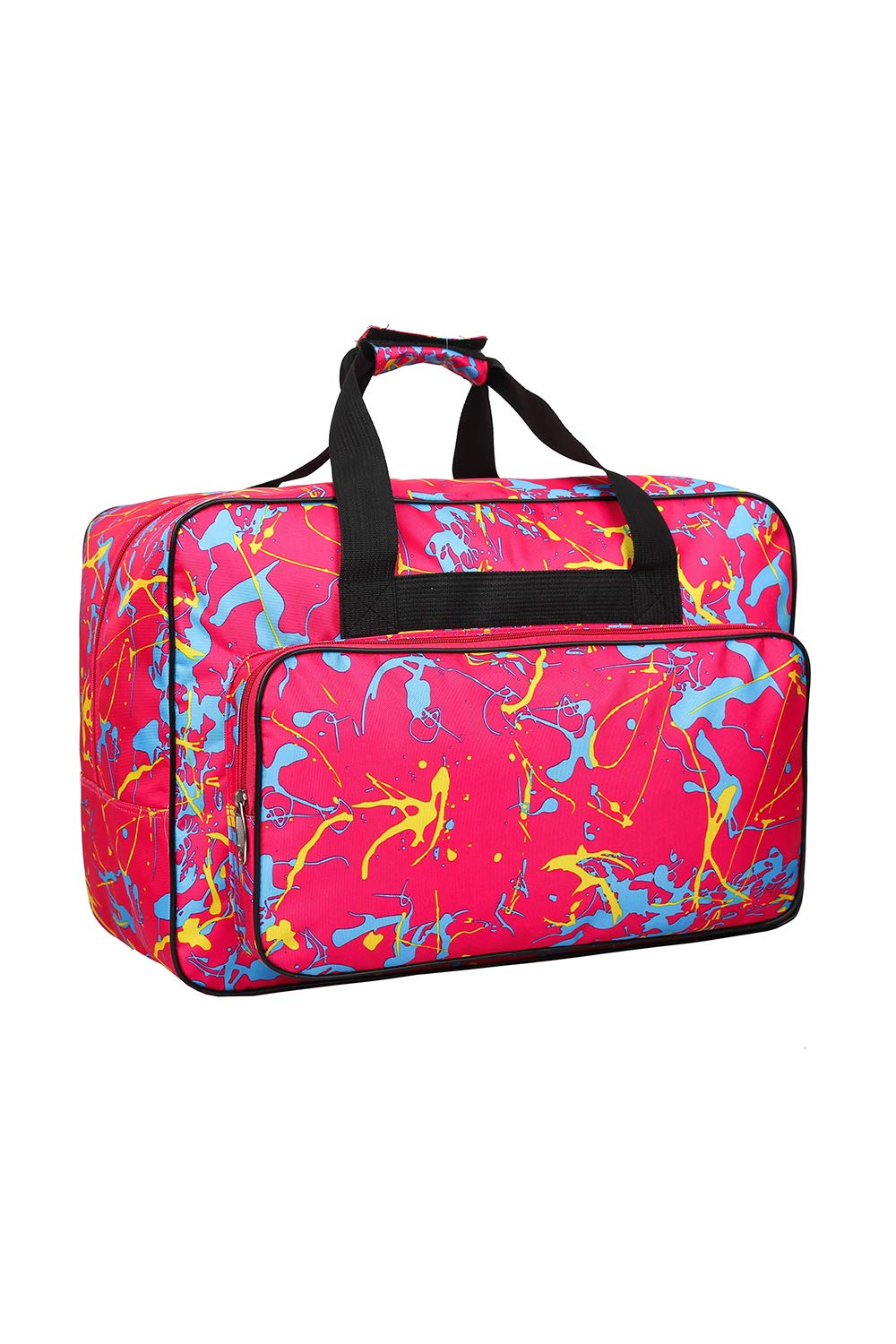 Rose Red Sewing Machine Carrying Case Tote Bag,Padded Storage Cover Carrying Case with Pockets and Handles ,Canvas