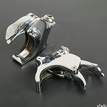 XFMT 49mm Detachable Windshield Clamps Compatible with Harley Street Bob Wide Glide 2006-2016 XL1200X