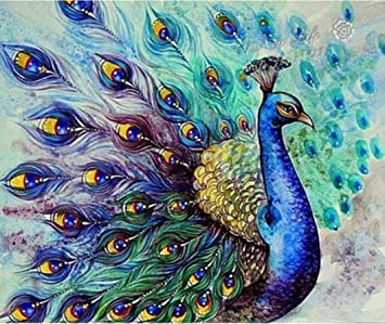squarex DIY Diamond Art of 5D Embroidery Paintings Rhinestone Pasted  Painting Cross Stitch Mosaic Home Wall Decor Gifts (Peacock  (Size 30X30cm))  ... df6a5428af9b