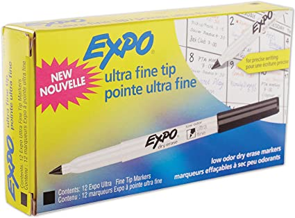 Black EXPO Low-Odor Dry-Erase Marker Ultra Fine Point