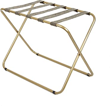 Amazon Com Silverwood Rhys Metal Folding Luggage Rack In Gold Furniture Decor