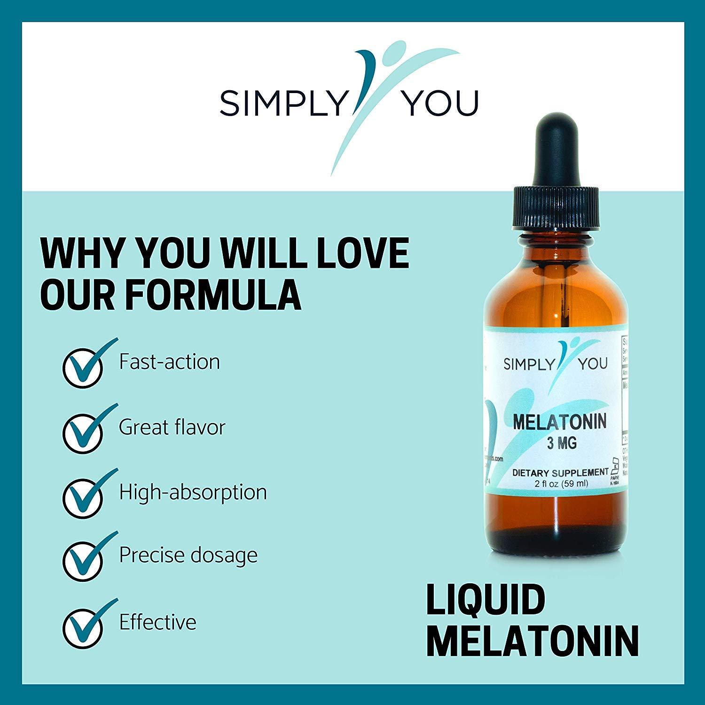 Melatonin by Simply You | Natural, Liquid Sleep aid Supplement for Adults | Organic, Vegan,...