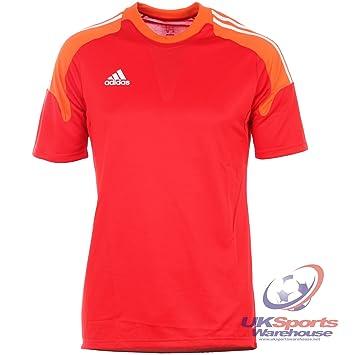 Adidas Climacool Camp 13 GK FM Acolchados para Portero de fútbol Camiseta Jersey Z48801 RRP £40, Red/Orange / White, Mediano: Amazon.es: Deportes y aire ...