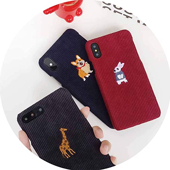 a1a2279045 Amazon.com: for iPhone Xs MAX Case Small Animal Corduroy Mobile ...