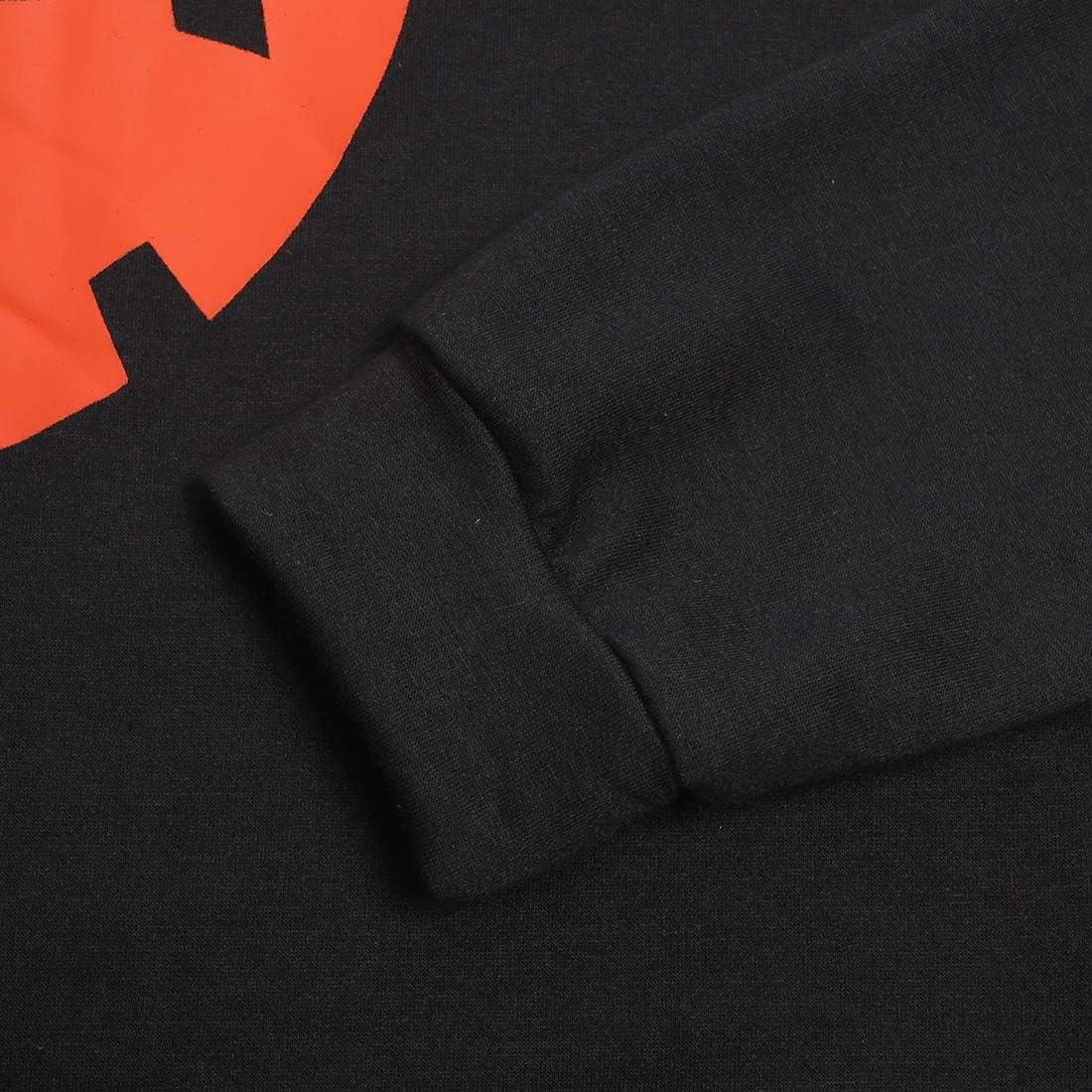 Womens Halloween Pumpkin Face Long Sleeve Sweatshirts Lightweight Casual Pullover Tops