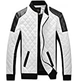 EASY Mens New Winter Faux Leather coat Thicken Jacket
