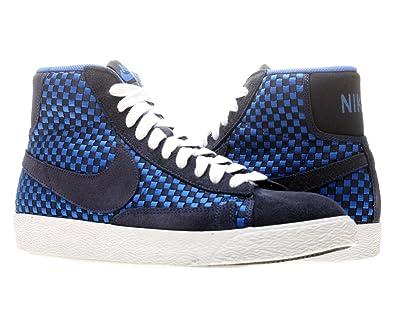Nike Blazer Mid Woven (8, Blackened Blue/Blackened Blue-Game Royal-