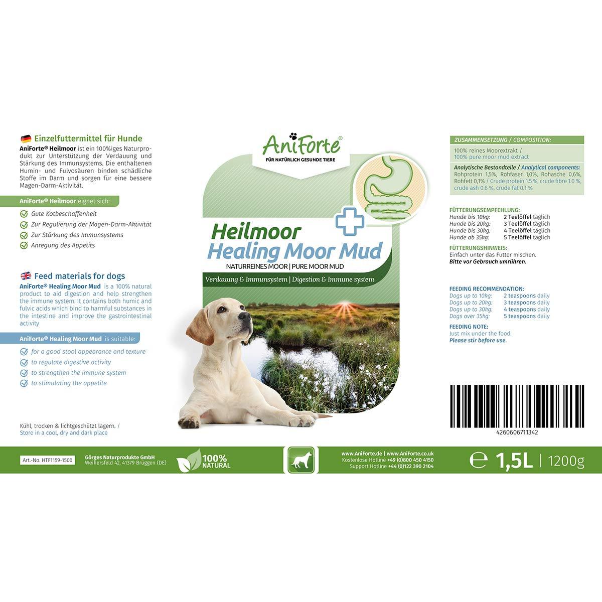 Aniforte Heilmoor Für Hunde 1200g Verbessert Die Kotbeschaffenheit