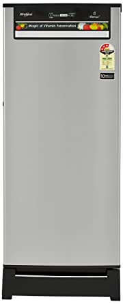 Whirlpool 200 L 3 Star Direct Cool Single Door Refrigerator(215 VITAMAGIC PRO ROY 3S, Alpha Steel, Base Stand with Drawer)